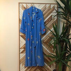 blue silk dress | ganni | 34